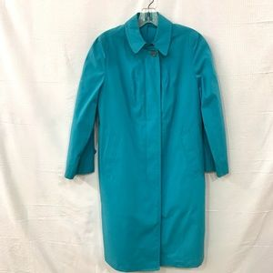 Vintage Blue Long Sleeve Trench Coat  Size:  6p